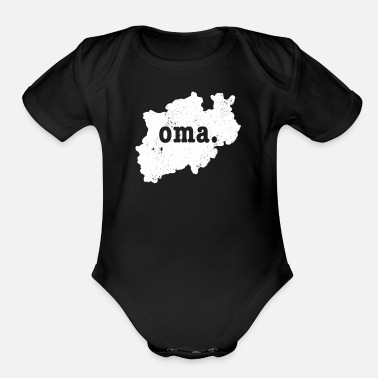 North Rhine-westphalia Oma North Rhine Westphalia Germany - Organic Short-Sleeved Baby Bodysuit