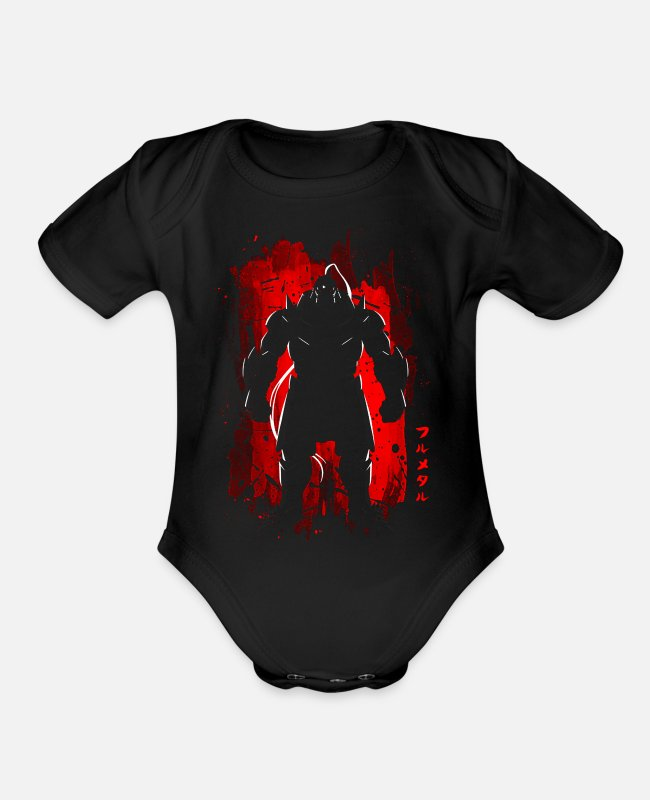 Anime Baby One Pieces - anime - Organic Short-Sleeved Baby Bodysuit black