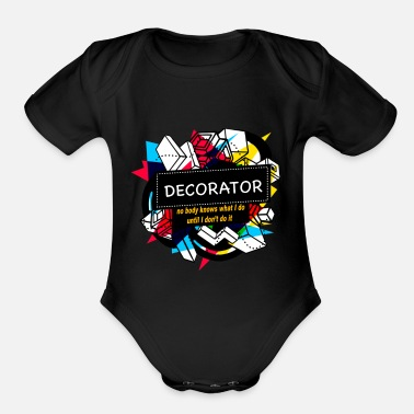 Decoration DECORATOR - Organic Short Sleeve Baby Bodysuit