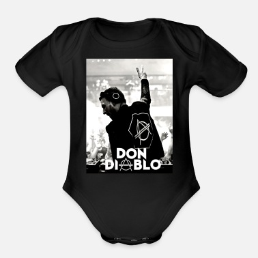 Trance don dj - Organic Short-Sleeved Baby Bodysuit