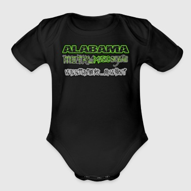 ALABAMA METAL MUSIC SCENE - Organic Short Sleeve Baby Bodysuit