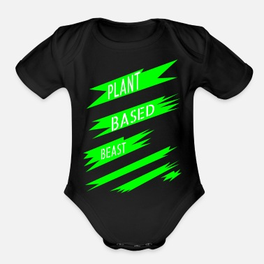 Plant-grounds plant (grounds) power lifting present lifestyle - Organic Short-Sleeved Baby Bodysuit
