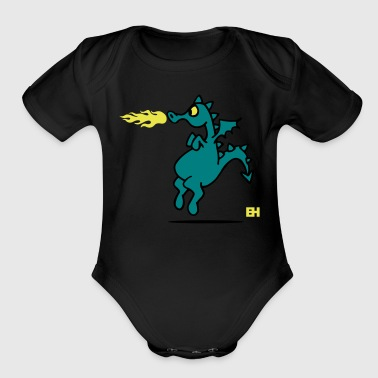 Boat Dragon - Organic Short Sleeve Baby Bodysuit