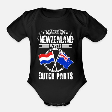 Made in newzealand with dutch part - Organic Short-Sleeved Baby Bodysuit