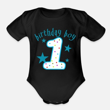 Birthday 1st Birthday Boy - Organic Short-Sleeved Baby Bodysuit