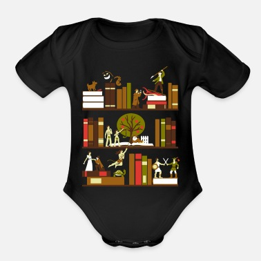 Novel A Novel Idea tshirt - Organic Short Sleeve Baby Bodysuit