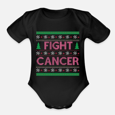 Fight Cancer FIGHT CANCER - Organic Short-Sleeved Baby Bodysuit