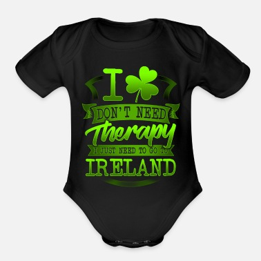 Eland eland I Don't Need Therapy I Just Need to Go to - Organic Short-Sleeved Baby Bodysuit