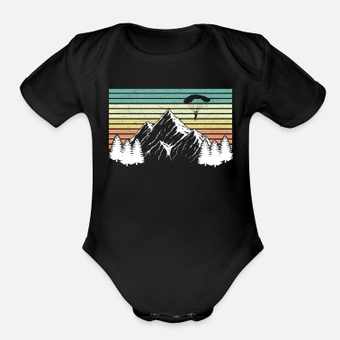 Extreme Spor Paraglide Skydiving - Organic Short-Sleeved Baby Bodysuit