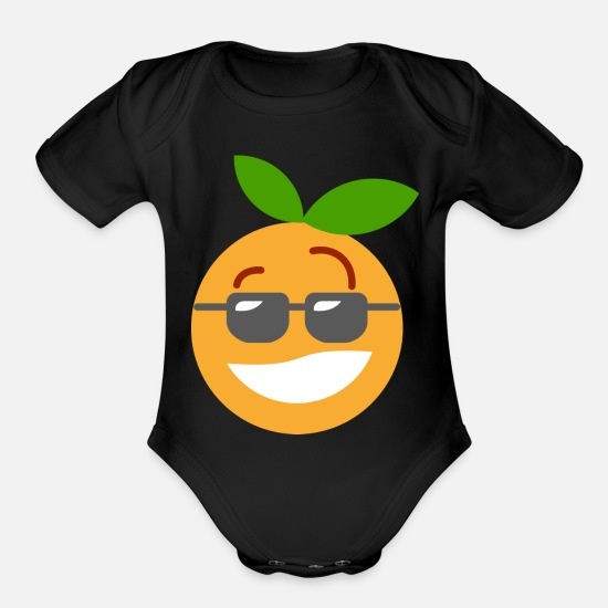 Cool Story Baby Clothing - clementine - Organic Short-Sleeved Baby Bodysuit black