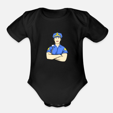 Police Inspector Police Officer Policeman Inspector Cop Sheriff - Organic Short-Sleeved Baby Bodysuit