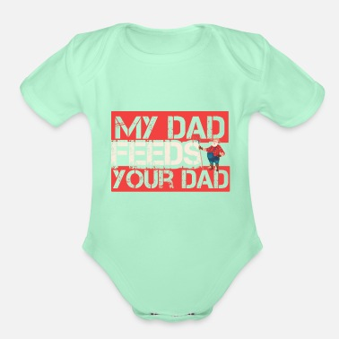 Farmer cattle farmer farmer daddy gentlemen farmer farmer - Organic Short-Sleeved Baby Bodysuit