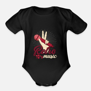 70s 70s 70's 70's Party years Born - Organic Short-Sleeved Baby Bodysuit