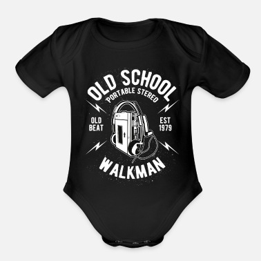 Old School Old School Walkman - Organic Short-Sleeved Baby Bodysuit