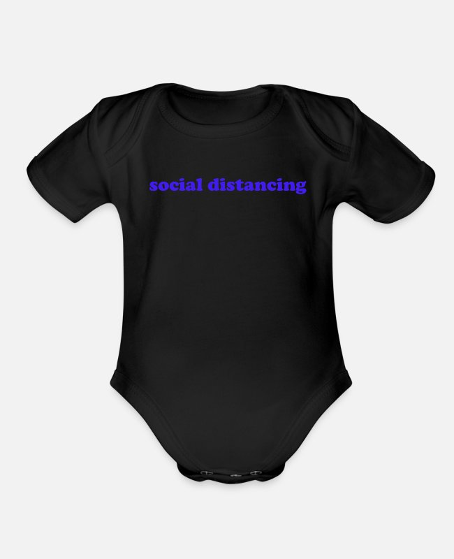 Virus Baby One Pieces - corona virus present idea - Organic Short-Sleeved Baby Bodysuit black