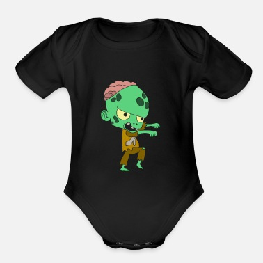 Young Halloween costumes children with motif - Organic Short-Sleeved Baby Bodysuit