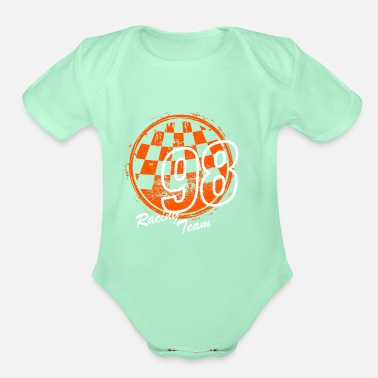 Jersey Number Racing Team 98 - Organic Short-Sleeved Baby Bodysuit