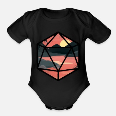Nerdy Sunset D20 - Organic Short-Sleeved Baby Bodysuit