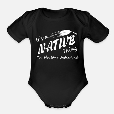 Native It's a Native American shirt - Organic Short-Sleeved Baby Bodysuit