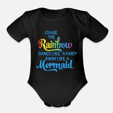 Chasing Rainbows Chase the Rainbow - Organic Short-Sleeved Baby Bodysuit