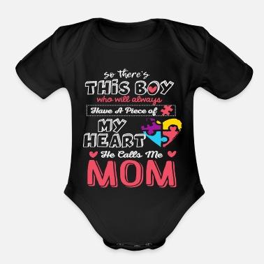 365baa4b9d He Calls Me Mom Autism Awareness Cute Shirt - Organic Short-Sleeved Baby  Bodysuit