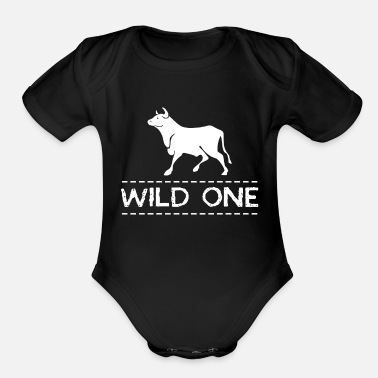 Wild And One Wild One - Organic Short-Sleeved Baby Bodysuit