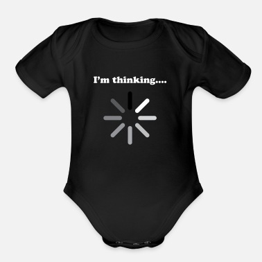 Humor In Thinking Humor - Organic Short-Sleeved Baby Bodysuit