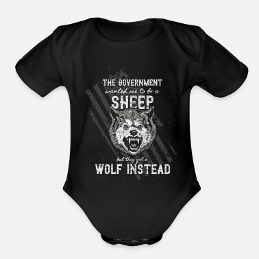 Government The government wanted a sheep - Organic Short-Sleeved Baby Bodysuit