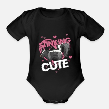 Stink Stinking Cute - Organic Short-Sleeved Baby Bodysuit
