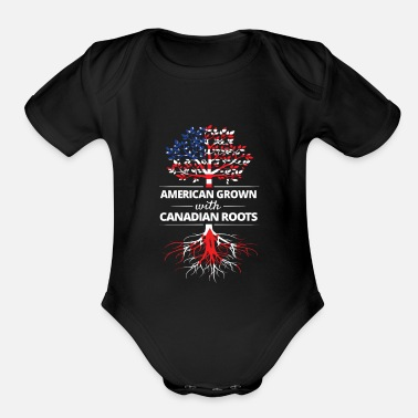 Roots American Grown with Canadian Roots - Organic Short-Sleeved Baby Bodysuit