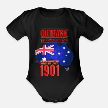Australia down under - Organic Short-Sleeved Baby Bodysuit