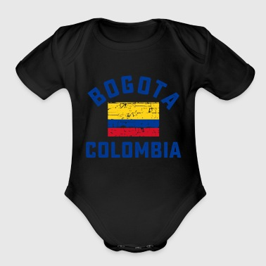 Bogota bogota city in colombian flag - Organic Short Sleeve Baby Bodysuit