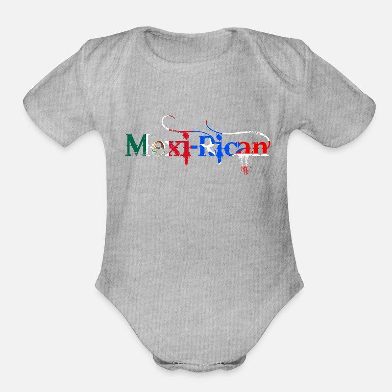 Toddler Baby Boy Girl Short Sleeve Organic Bodysuit Puerto Rico Flag Baby Clothes