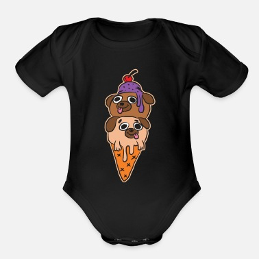 Ice Cream - Organic Short-Sleeved Baby Bodysuit