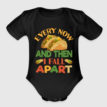 Taco Funny Mexican Food Feista Cinco De Mayo - Organic Short Sleeve Baby Bodysuit