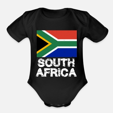 South South Africa National Pride South African Flag Design - Organic Short-Sleeved Baby Bodysuit