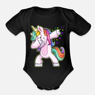 Unicorn Unicorn Dabbing Youth Kid Shirt - Organic Short-Sleeved Baby Bodysuit