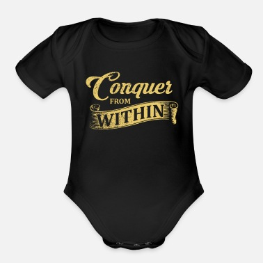 Conquer Conquer - Organic Short-Sleeved Baby Bodysuit