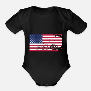 Flags Flag Flag Flag - Organic Short-Sleeved Baby Bodysuit