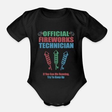 OFFICIAL FIREWORKS TECHNICIAN - Organic Short-Sleeved Baby Bodysuit
