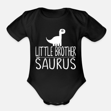 Little Brother Little brother Saurus - Organic Short Sleeve Baby Bodysuit