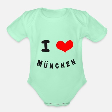 Munich Munich - Organic Short-Sleeved Baby Bodysuit