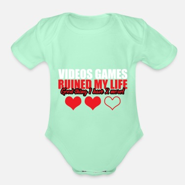 Video Video Games - Organic Short-Sleeved Baby Bodysuit
