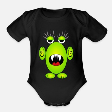 Monster Monster - Organic Short Sleeve Baby Bodysuit