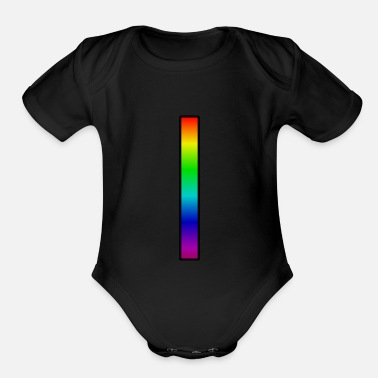Pillars Rainbow pillar - Organic Short-Sleeved Baby Bodysuit