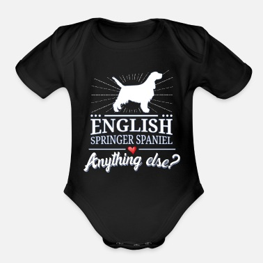 English Springer Spaniel English Springer Spaniel - Organic Short-Sleeved Baby Bodysuit