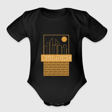 Building - Organic Short Sleeve Baby Bodysuit