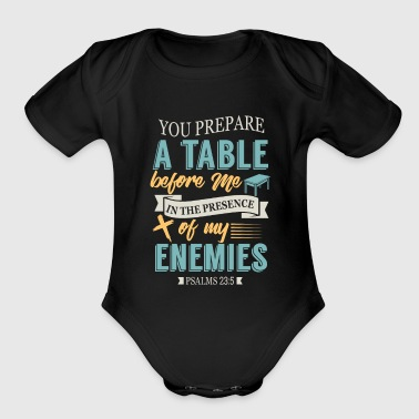 Psalms 23:5 - Organic Short Sleeve Baby Bodysuit