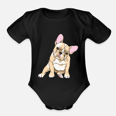 Bulldog French bulldog - Organic Short Sleeve Baby Bodysuit