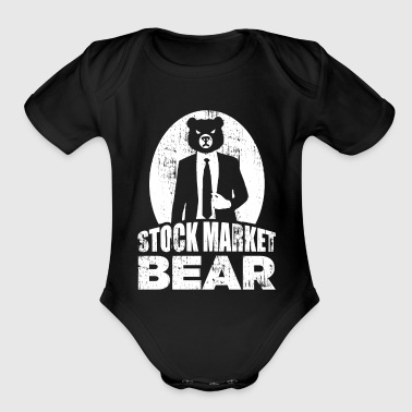 Stock Market Bear in a Suit Gift Dividends - Organic Short Sleeve Baby Bodysuit